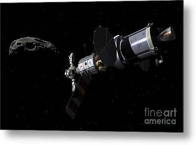 A Deep Space Mission Vehicle Metal Print by Walter Myers