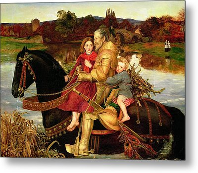 A Dream Of The Past Metal Print by Sir John Everett Millais