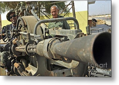A Free Libyan Army Soldier Mans Metal Print by Andrew Chittock