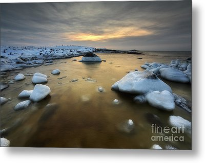 A Frozen, Rusty Bay On Andoya Island Metal Print by Arild Heitmann