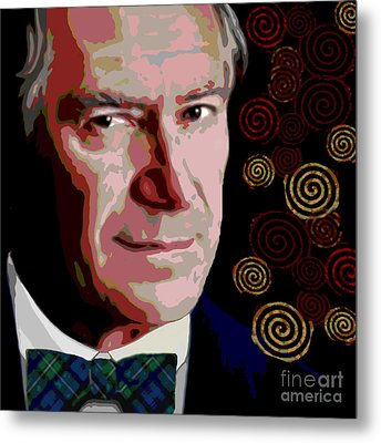 Metal Print featuring the painting A Gentleman by Jann Paxton