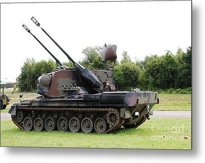 A Gepard Anti-aircraft Tank Metal Print by Luc De Jaeger