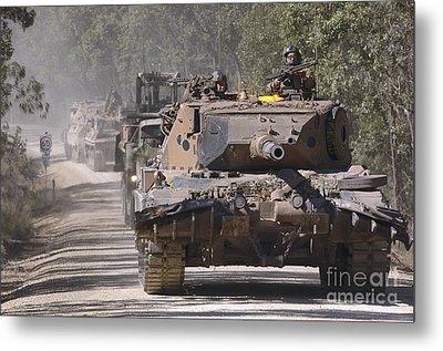 A German Designed Leopard As1 Gun Tank Metal Print by Stocktrek Images