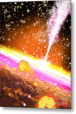 A Giant Black Hole At The Center Metal Print