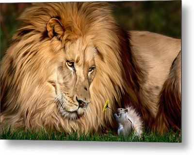 A Gift For Cameron Metal Print by Big Cat Rescue