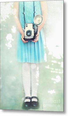 A Girl And Her Camera Metal Print by Stephanie Frey