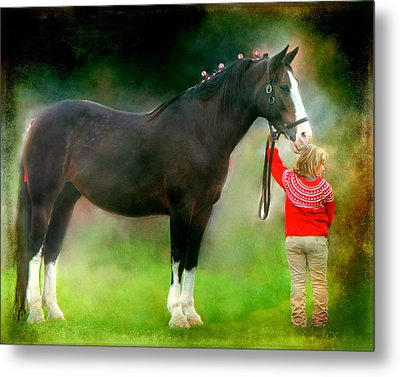 A Girl And Her Horse Metal Print by Davandra Cribbie
