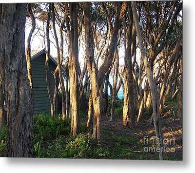 A Glimpse Of Paradise Metal Print by Therese Alcorn