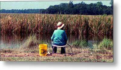 A Great Day Fishing Metal Print by Patricia Greer