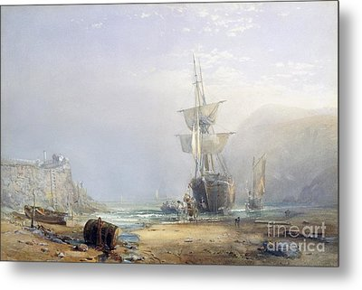 A Hazy Morning On The Coast Of Devon Metal Print by Samuel Phillips Jackson
