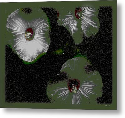 A Hint Of Hibiscus Metal Print by Rene Crystal
