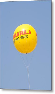 A Hot Air Balloon In The Blue Sky Metal Print by Ashish Agarwal