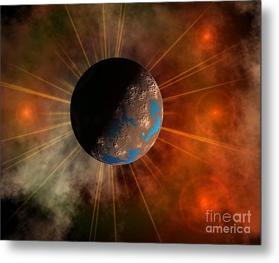 A Hypothetical Alien World With Oceans Metal Print
