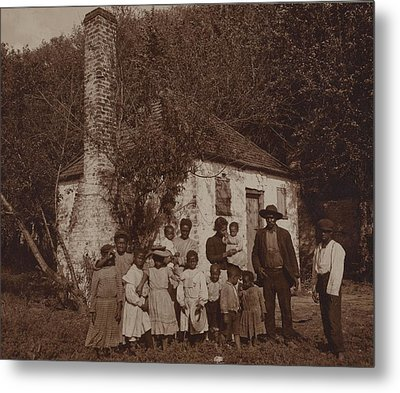 A Large African Americans Family Posed Metal Print by Everett