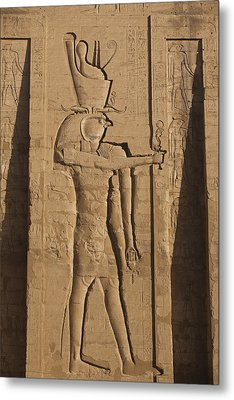 A Large Relief Of The God Horus Metal Print by Taylor S. Kennedy