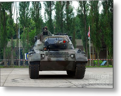 A Leopard 1a5 Mbt Of The Belgian Army Metal Print by Luc De Jaeger