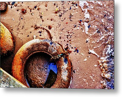 A Life Ring Metal Print by Kelly Reber