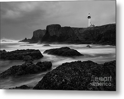 A Light In The Storm Metal Print by Keith Kapple