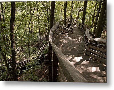 Metal Print featuring the photograph A Long Way Down by Jeannette Hunt