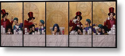 A Mad Tea-party From Alice In Wonderland Metal Print by Jose Luis Munoz Luque