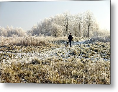 A Man And His Dog Metal Print by John Chatterley