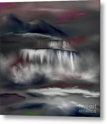 Metal Print featuring the painting A Midnights Dream by Lori  Lovetere
