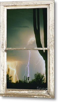 A Moment In Time Rustic Barn Picture Window View Metal Print by James BO  Insogna