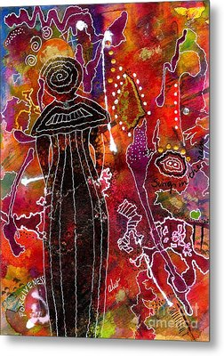 A Mother's Life Restored Metal Print by Angela L Walker