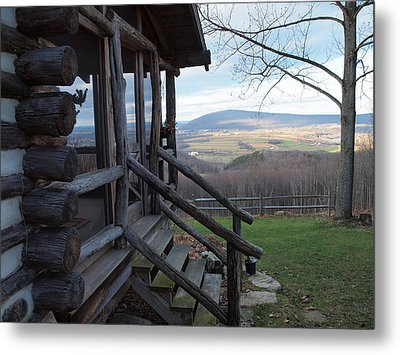 A Mountain View Metal Print by Robert Margetts
