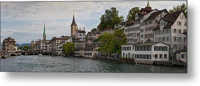 A Panorama View Of Zurich Metal Print by Greg Dale