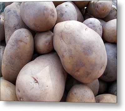 A Pile Of Large Lumpy Raw Potatoes Metal Print by Ashish Agarwal