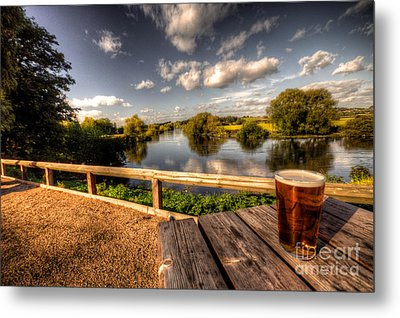 A Pint With A View  Metal Print by Rob Hawkins
