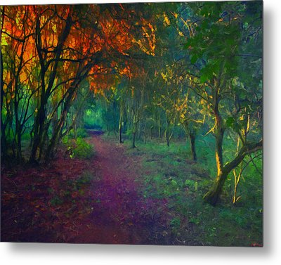 Metal Print featuring the painting A Place Of Mystery by Joe Misrasi
