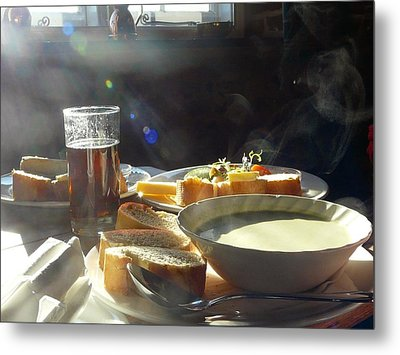 A Ploughman's Lunch Metal Print