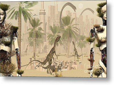 A Prehistoric City Now Void Of Any Life Metal Print