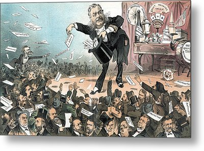 A Presidential Conjuror. Chester Metal Print by Everett