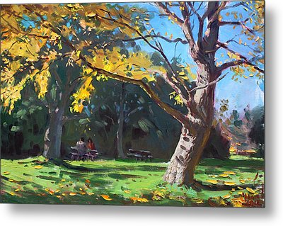 A Quiet Fall Afternoon Metal Print by Ylli Haruni