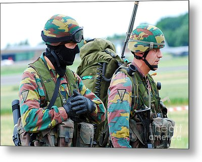 A Radio Operator And Members Metal Print by Luc De Jaeger