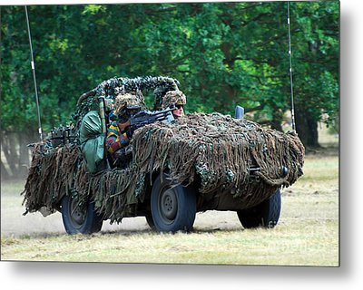 A Recce Unit Of The Belgian Army Metal Print by Luc De Jaeger