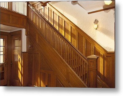 A Residential Building. An Oak Metal Print by Will Burwell