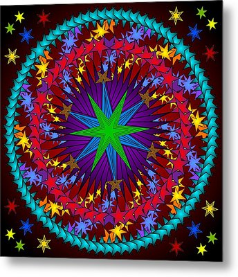 Metal Print featuring the digital art A Riot Of Stars by Mario Carini