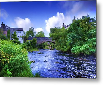 Metal Print featuring the photograph A River Runs Thru It In The Yorkshire Dales by Jack Torcello