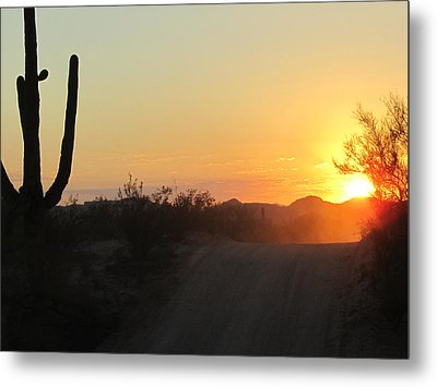 A Road To The Sun Metal Print by Wendi Matson