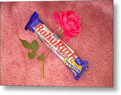 A Rose And A Babyruth Metal Print by Tom Zukauskas