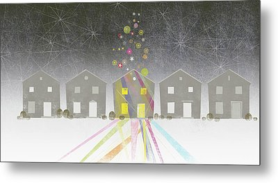 A Row Of Houses Metal Print by Jutta Kuss