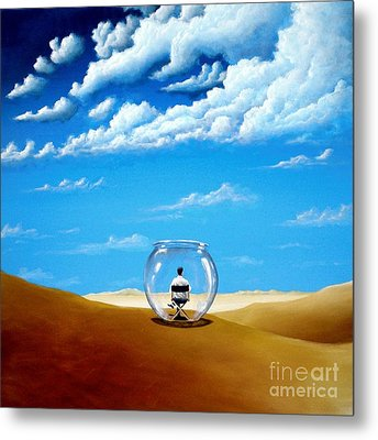Metal Print featuring the painting A Self Created Comfort Zone by Ric Nagualero