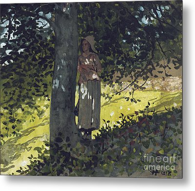 A Shady Spot Metal Print by Winslow Homer