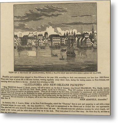 A Ship Of Slaves In 1836 Leaving Metal Print by Everett