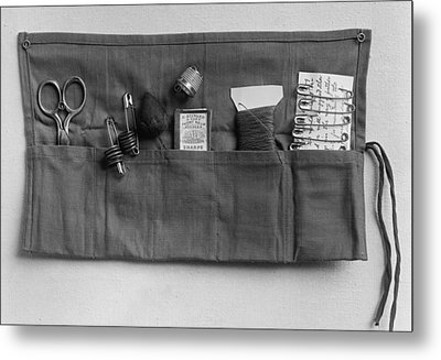 A Simple Sewing Kit, Provided Metal Print by Everett
