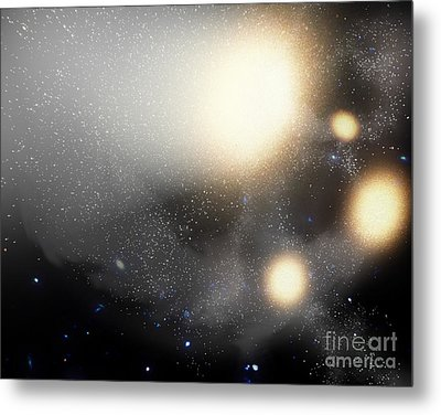A Smash-up Of Galaxies Metal Print by Stocktrek Images